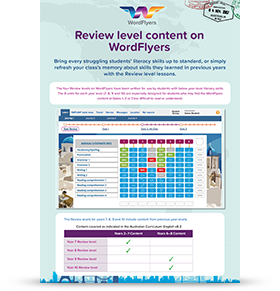 Review Level Content on WordFlyers