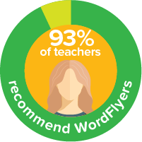 93% of teachers recommend WordFlyers